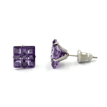 Moda jóias anel de ouvido de cristal, prata mulheres casamento brincos