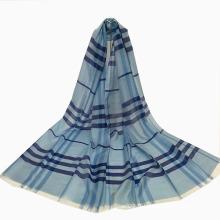 Écharpe longue de style Classic Grid pour femme