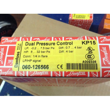 Danfoss High/Low Pressure with Auto/Manual Reset Switch Kp15 (060-126566)