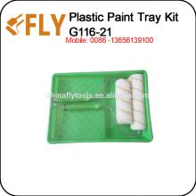 Green Plastic Paint Tray Set