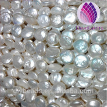 Good luster coin shape 12--13 mm round natural freshwater pearl coin pearl baroque loose pearls