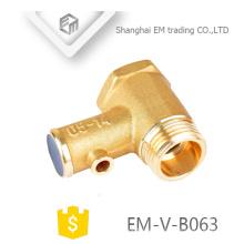 EM-V-B063 válvula de seguridad de alivio de presión de latón de presión media de níquel para calentador de agua eléctrico sin mango