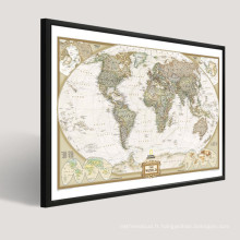 Modern Popular World Map Abstract Painting Design On Canvas