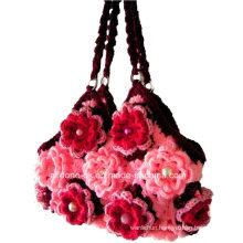 OEM Ladies New Design Hand Crochet Bag Handmade Knitted Handbags