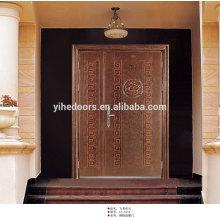 portes extérieures en acier inoxydable double battant