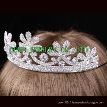 Fleur Design Crown Bride Mariage Crystal Tiaras