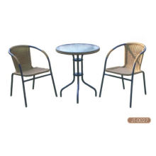 Stock wicker furniture Bistro Set Accept Min Order