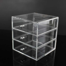 Gros 3 tiroirs acrylique maquillage organisateur