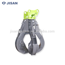 Orange peel grab, hydraulic material grapple, Sunwad scrap grapple for ZX210 SK230 PC220 DH225 excavator