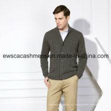 Чисто мужской Кашемировый свитер с кабелями