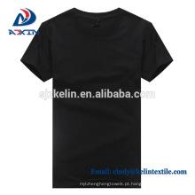 Design personalizado homens algodão em branco camisetas brancas