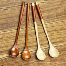 diseño de moda de madera / cuchara larga del mango del helado de té