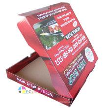 Caixa de pizza retangular de grau alimentício por atacado