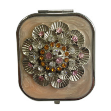 Crystal Flower Makeup Compact Mirrors
