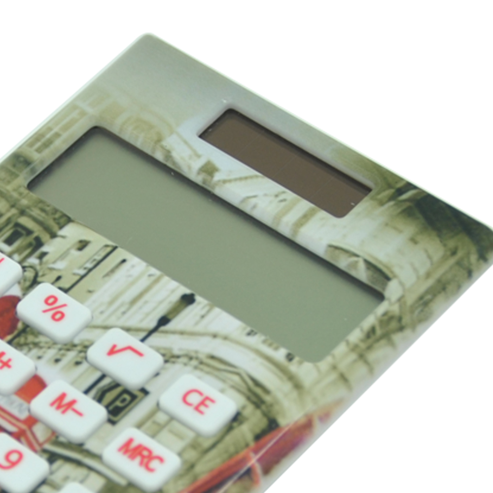 Dual Power Fancy Pocket Calculator with Full Print