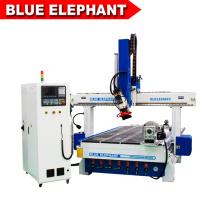 Máquina de madera ELE1530atc grabado enrutador cnc rotativo 4º eje para 3d cilindro 4d y escultura