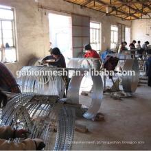 Tratamento de superfície galvanizado e tipo de malha de arame farpado baixo preço, armadinha, barbear, arame farpado