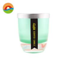 Bougie en verre ronde cylindrique personnalisée à bas prix