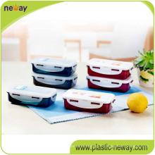 Récipient de nourriture en plastique carré de pp avec des serrures