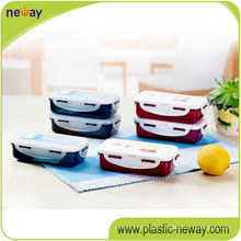 Square PP Plastic Food Container with Locks