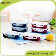 Квадратный пластичный контейнер еды PP с замками