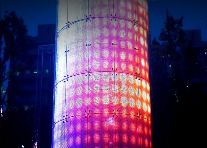 transparent LED display .