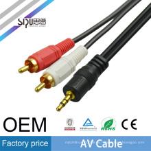 SIPU alta calidad 3.5mm a 2rca av cable rs232 mayorista de cable de salida av mejor precio de cable de video de audio