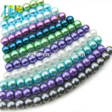 """Natural Mixed-color Glass Pearl Pendant Jewelry Necklace 18"""" AAA Top Grade"""