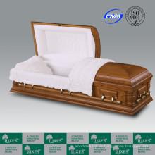 Großhandel, amerikanischen Stil solide Holzschatulle Sarg für Beerdigung