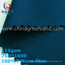 Tela de microfibra de sarga de poliéster para pantalones de tela (GLLML335)