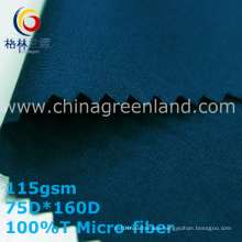 Twill Polyester Micro-Fiber Fabric for Textile Pants (GLLML335)