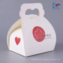 caja de empaquetado de la torta al por mayor para pastel y tarta