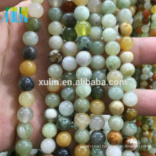Jewelry Stone Beads Round Smooth Mixed Amazonite Semi Precious Stone Beads String For Jewelry