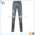 Синий,серый рваные черные узкие джинсы уничтожено джинсы модель для мужчин