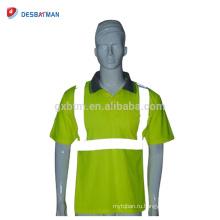 Привет отношению желтый безопасности Поло T-рубашки высокая видимость безопасности День/Ночь рабочая одежда со светоотражающими полосами