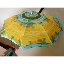 180cm 8Panels Beach Umbrella cliente insignia impresa