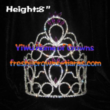 8inch Wholesale Queen Crowns With Purple Diamond
