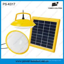 Mini zwei Glühbirnen Solar Kit mit USB-Telefon-Ladegerät
