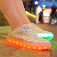 Draht-Seite LED Schuhe für Frauen-weiß und rosa Farbe