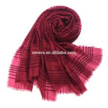 Innere Mongolei Hersteller Bestellungen Rundgarn gemischt dünne Schal SWR0212 Wolle Plaid neue Mode Schal