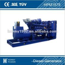 Groupe électrogène diesel de marque 1350kW mondialement connu, HPM1875, 50Hz