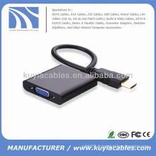 Adaptateur de câble HDMI vers VGA avec chipset 1080P noir Pour XBOX 360 AV