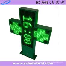 P16 exterior doble lado Programmalbe LED farmacia Cruz (85X85)