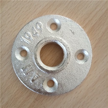 BSP cast iron pipe fitting brass floor flange