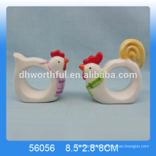 2016 anéis de guardanapos cerâmicos mais populares, anéis de guardanapos de animais em forma de galinha