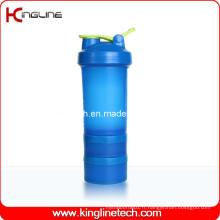Réchauffeurs de mélangeur en plastique de 22 oz / 600 ml avec boule de mélangeur en acier inoxydable (KL-7050)
