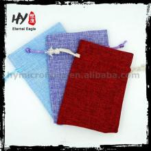 Melhor vender envelope saco de jóias, personalizado saco de jóias com cordão, bolsa de compras jóias bolsa