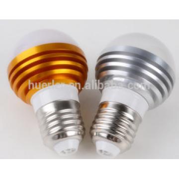 3leds llevaron los bulbos ligeros e26 / b22 / e27 3 watt llevaron los bulbos llevados luz de bulbo al por mayor
