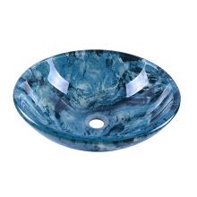 Double Layer Blue Glass Wash Basin