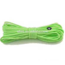high quality and cheap price paracord green color 550 glow in the dark manufacturer